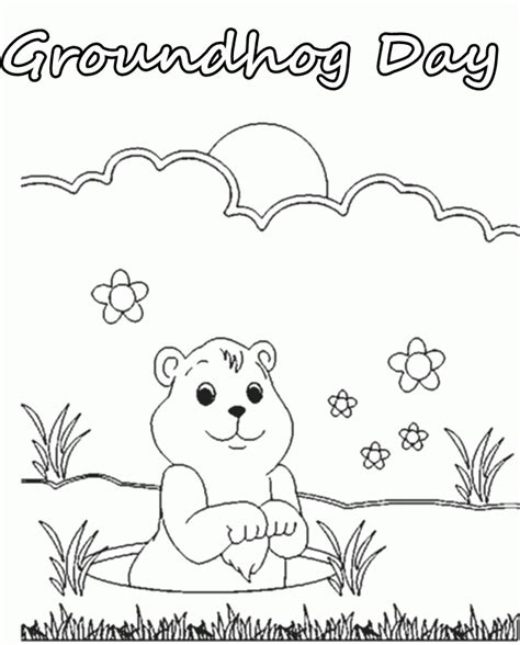 groundhog coloring page printable printable coloring pages of groundhogs coloring home