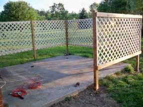 Fence For Patio by Diy Patio Lattice Fence Add Climbing Morning Glorys For