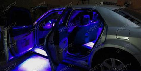 purple car interior lights