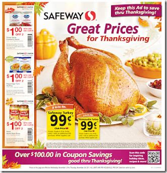 printable thanksgiving grocery coupons safeway coupons for thanksgiving 2011 think n save