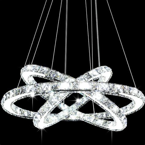 Modern Galaxy Led K9 Crystal Ring Chandelier Pendant Light Chandeliers Led