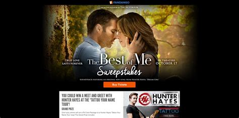 The Best Sweepstakes - fandango the best of me sweepstakes meet and greet with hunter hayes