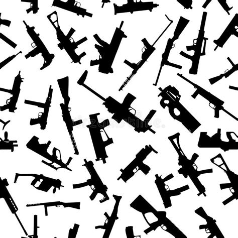 rifle stock pattern download weapons silhouettes on white seamless pattern stock