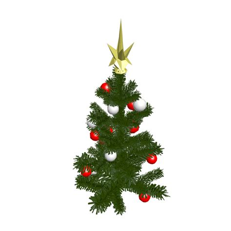 christmas tree small design and decorate your room in 3d