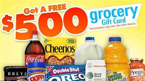 Grocery Gift Cards - free 500 grocery gift card free products sles