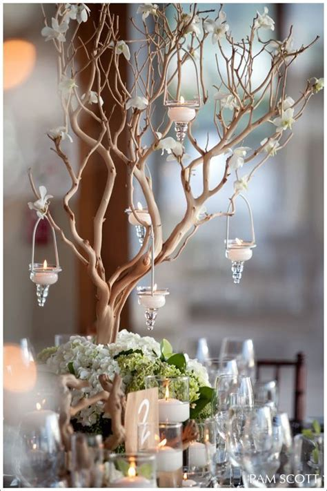 Y Branch Rucika D 4 twig centrepiece weddings