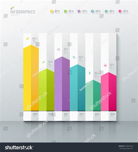 graph layout vector origami paper colorful graph design background vector