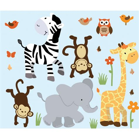 jungle nursery wall stickers 26 jungle animal wall decals for nursery nursery zoo decals safari wall decals animal