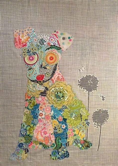 Animal Patchwork Quilt Patterns - emerson puppy collage quilt pattern by heine