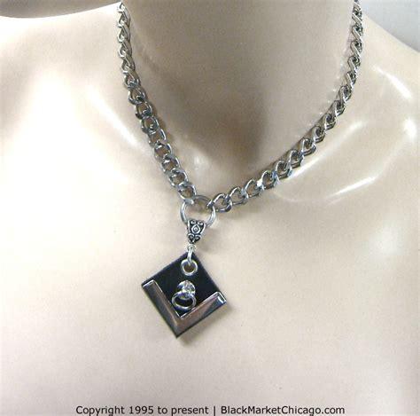 Silver O Ring Choker day collar