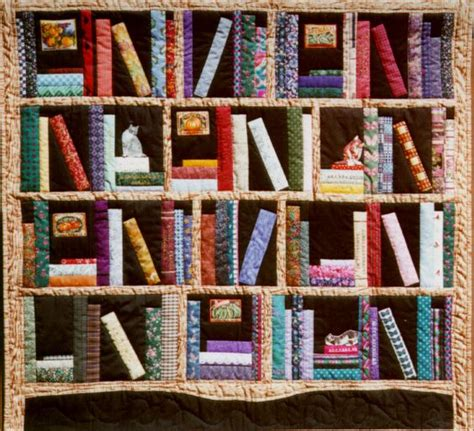 quilt pattern library books bookshelf quilt by christine thresh quilting pinterest