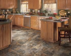 brown and grey vinyl flooring for kitchen with cherry