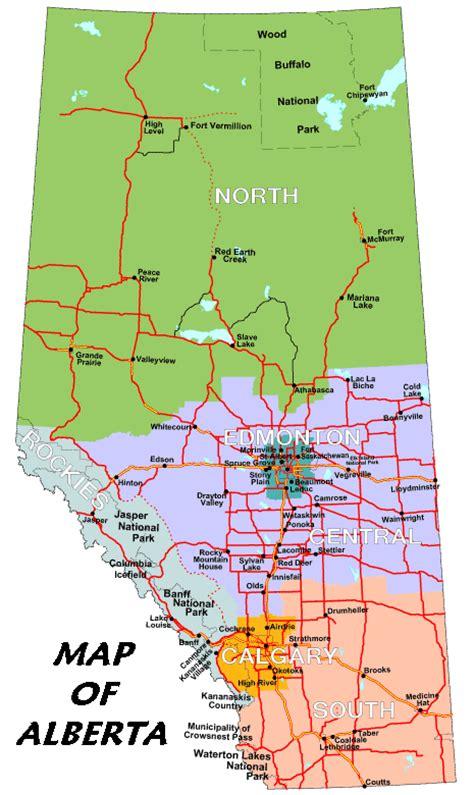 maps canada alberta map of alberta national parks
