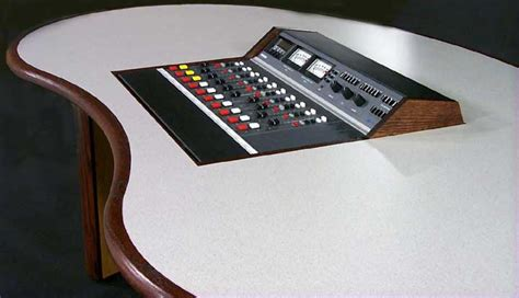 Radio Console Desk kidney desk with flush inset console broadcast console radio console furniture