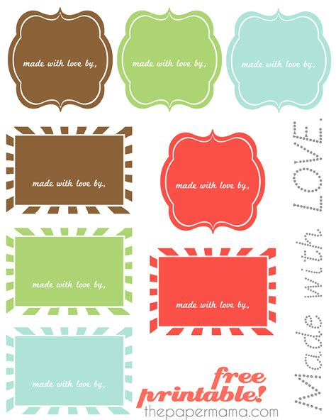 printable gift tags made with love made with love labels