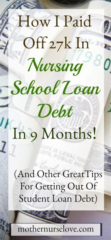 Nursing School Debt by How I Paid 27k In Nursing School Student Loan Debt In