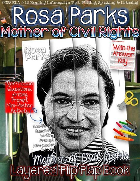 rosa parks biography for middle school rosa parks quot mother of civil rights quot layered flip flap
