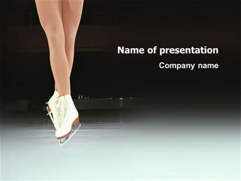 ice skates powerpoint templates dancing on ice presentation template for powerpoint and