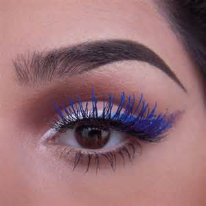 color mascara makeup trends 2016 2017 how to wear blue mascara no