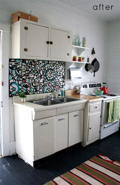 Kitchen Mosaic by Before After Kitchen Redo Mosaic Backsplash Design Sponge