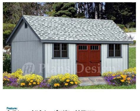 cabin shed  porch plans blueprint shed
