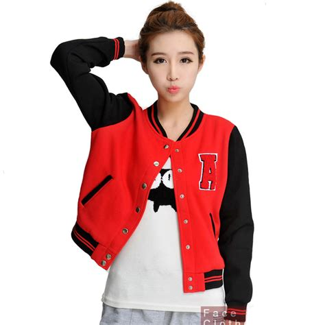 Outer Coat Jaket Wanita Outerwear Jaket baseball jacket outdoor jacket