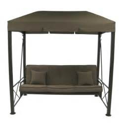 Patio Swing Top 3 Person Patio Swing With Gazebo Top Cover Brown Target