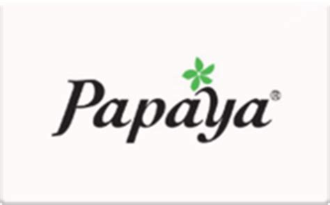 Papaya Gift Card - buy papaya in store only gift cards raise