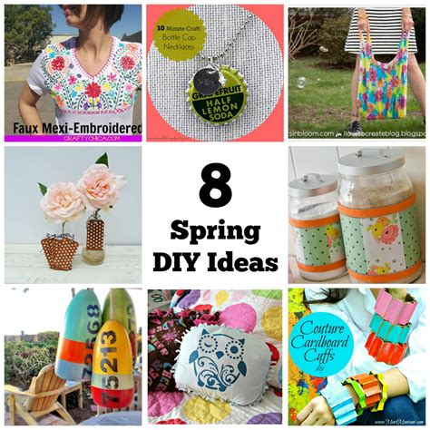 diy craft projects 8 spring diy fashion and home design projects