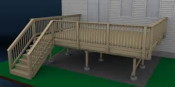 deck build how to build a deck wood decking and railings