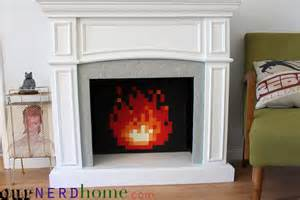 fireplace diy diy legend of 8 bit in our fireplace total