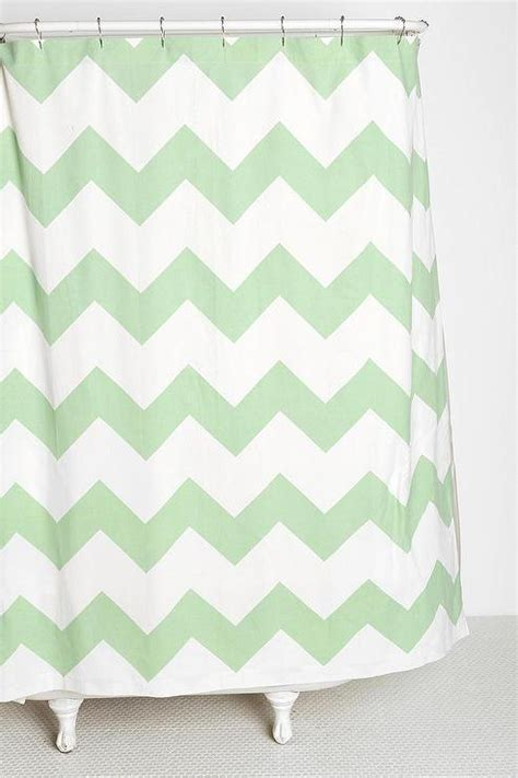 mint chevron shower curtain green white chevron print shower curtain