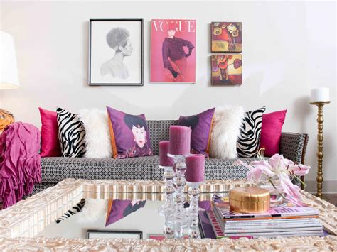 black and pink living room photo page hgtv