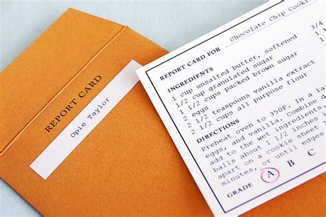 Report Card Envelope Template