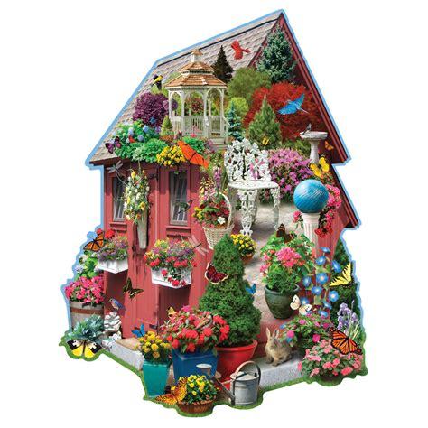 garden shed  piece shaped puzzle bits  pieces
