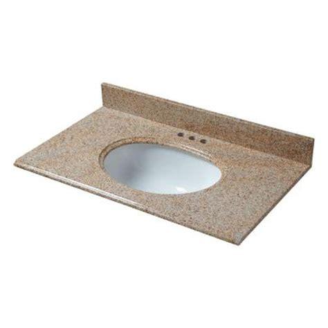 Pegasus Bathroom Vanity Tops Pegasus 31 In X 22 In Granite Vanity Top In Beige With White Bowl And 4 In Faucet Spread