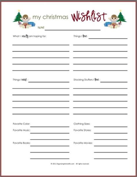 Secret Santa Template Wishlist Invitation Template Secret Santa List Template