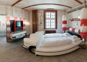 cars themed bedroom furniture birch: amazing car themed rooms of v hotel germany