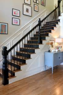 Painting A Banister Black painted stairs stacyjacobiinteriors