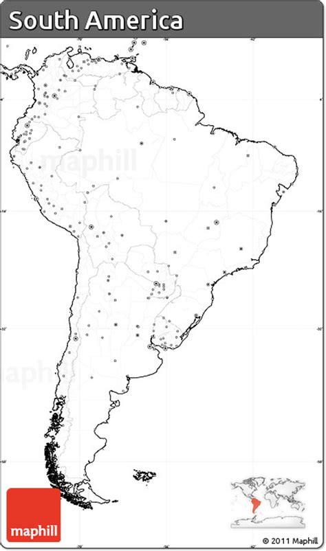america map simple free blank simple map of south america no labels