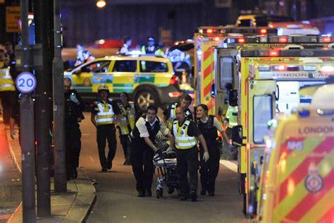 borough market stabbing london bridge attack van collision stabbings called
