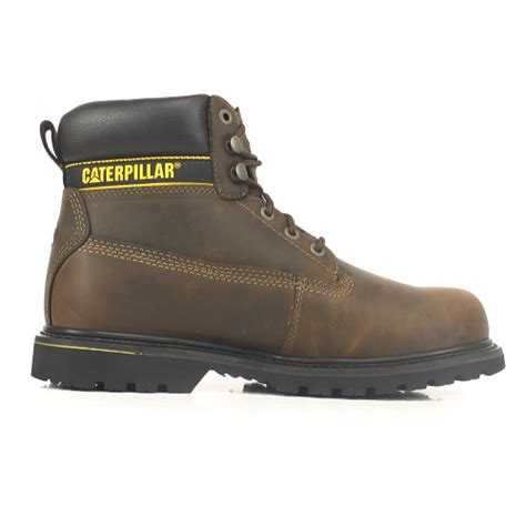 Cat Safety Brown cat holton brown safety boots with steel toe cap sb