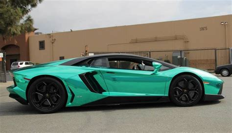 chrome lamborghini unique lamborghini aventador in turquoise chrome
