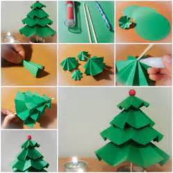 How to make simple paper christmas trees step by step diy tutorial