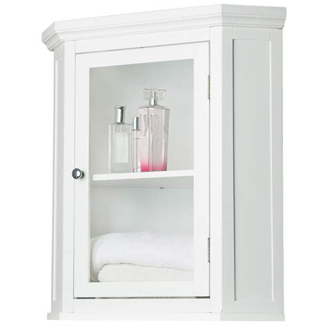 Furniture White Wooden Tall Free Standing Bathroom Small Corner Bathroom Storage Cabinet