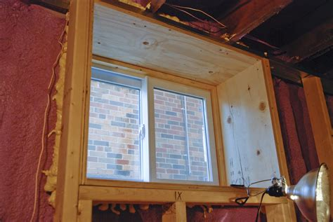 Basement framing window   Basement Gallery