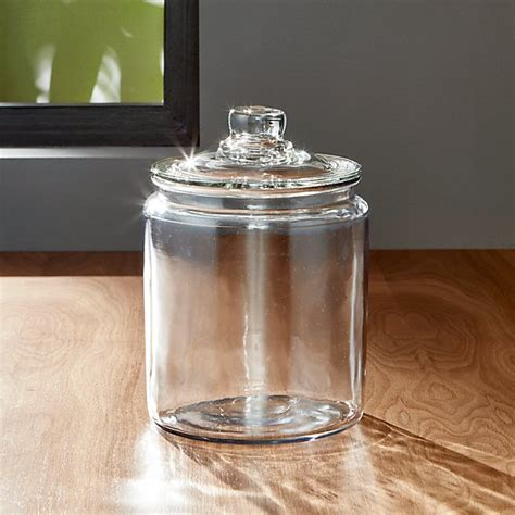 glass jars heritage hill 64 oz glass jar with lid reviews crate and barrel