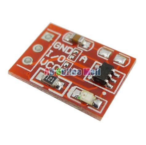 Sensor Sentuh Kapasitif Ttp223 Touch Sensor 10pcs lot ttp223 jog type touch sensor module capacitive touch buttons in integrated circuits