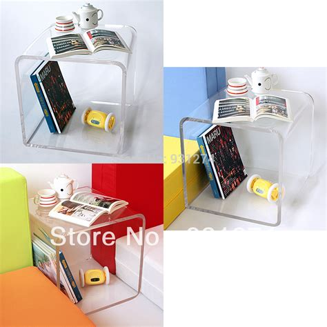 Free Shipping Colored Cubic Acrylic Table With