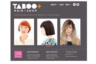 exles of hair websites best salon spa web design exles salon spa web